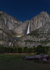 Yosemite Falls with Moonbow