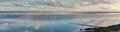 Terschelling panoramic view on Harlingen, Friesland, Netherlands