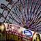 Evening Light Ferris Wheel in the City