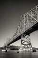 The cantilever side of the Carquinez Straights bridge, between San Pablo Bay and the Sacramento River delta. Processed in Silver Efex Pro