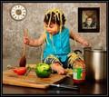 Anna cooks linguini