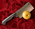 Cutting an apple.