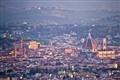 Sun shining on Firenze, Italy