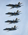 The U.S. Navy Blue Angels fly in formation at the NAS Fort Worth JRB AirExpo 2016.