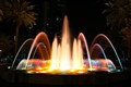 Water Fountain at Fort Lauderdale downtown in South Florida