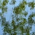 Reflection over a calm lake
