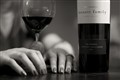 red wine and woman's hands
