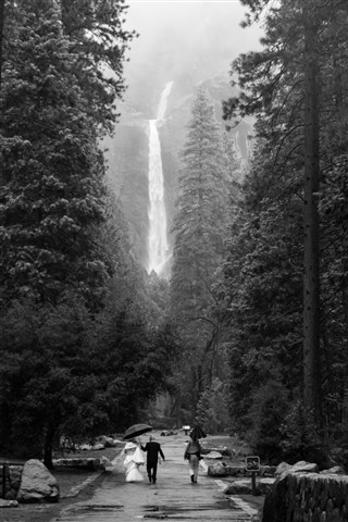Wedding Shoot at Yosemite Falls
