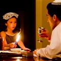 Havdalah candle with Dad and Daughter