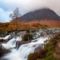 Buachaille Etive Mor with waterfall, Scotland