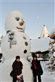 photo with the giant snowman
