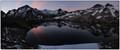 Lake Angelus and mountains at dawn
