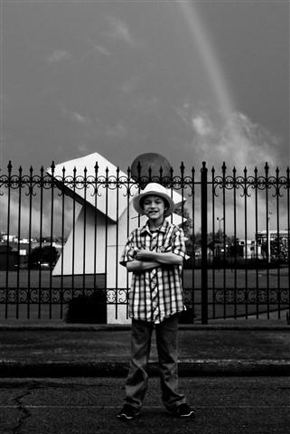 Kid under Rainbow