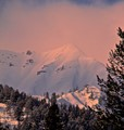 mountain alpenglow