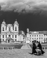 Moments before the storm in Union Square, city of Timisoara.