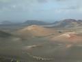 Volcanos in the Lanzarote island (Canarian archipelago).
