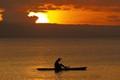 lone fisherman at Takubar, sunset P6305896