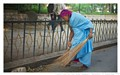 Colorful India and their street sweepers - Bangalore