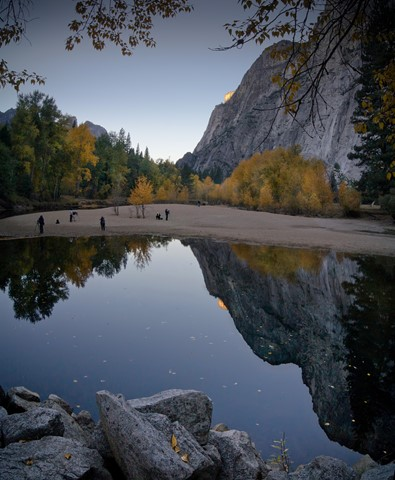 Yosemite, first light hitting El Capitan
