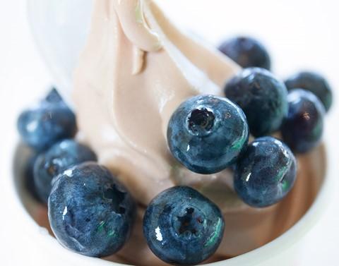 Blueberries on Yogurt at Pinkberry