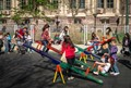 Kids enjoying seesaws (Buenos Aires)