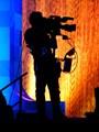 Cameraman on fire