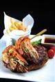 Grilled Beef & Prawn