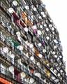 Busy balconies on Schöneberger Strasse in Berlin.