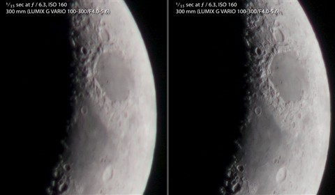 comparison with electronic shutter