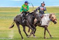 Horse race in Mongolia