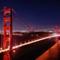 golden gate bridge at night: golden gate bridge at night