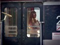Girl in a train