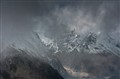 Heavy Fog and Clouds in the High Himalayas, Manaslu Region, Nepal