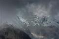 Heavy Fog and Clouds in the High Himalayas, Manaslu Region, Nepal