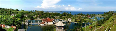 Panorama - King's summer palace Amlapura, Bali, Indonesia
