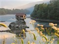 House on Drina River island