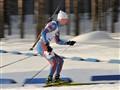 Biathlonist on his penalty loop