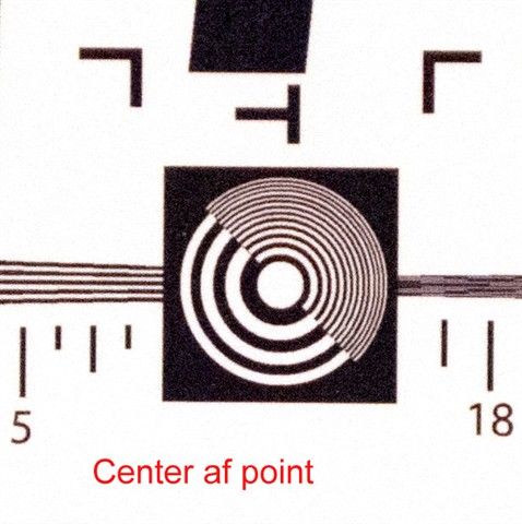center af point sample