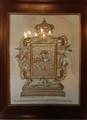 Embroidered icon at Crkva Gospe od Skrpjela. Perast. Montenegro.