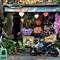 Kawasaki at the wreath shop.