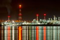 Petrochemicals Factory by night