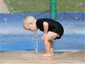 A moment at the splash pad