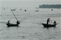 Fishing boats in the Bay of Bengal