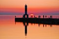 Pier on Lake Michigan