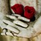 Red Roses and Statue_sm