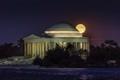 Moonrise at the Jefferson Memorial