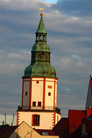 0073  Marienkirche im Abendlicht