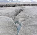 Atop Mendenhall glacier
