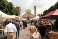 image taken in San Zeno square - Verona, Italy - during a periodic market for antiques