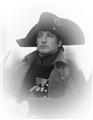 the emperor Napoleon Bonaparte in a soldier's uniform
